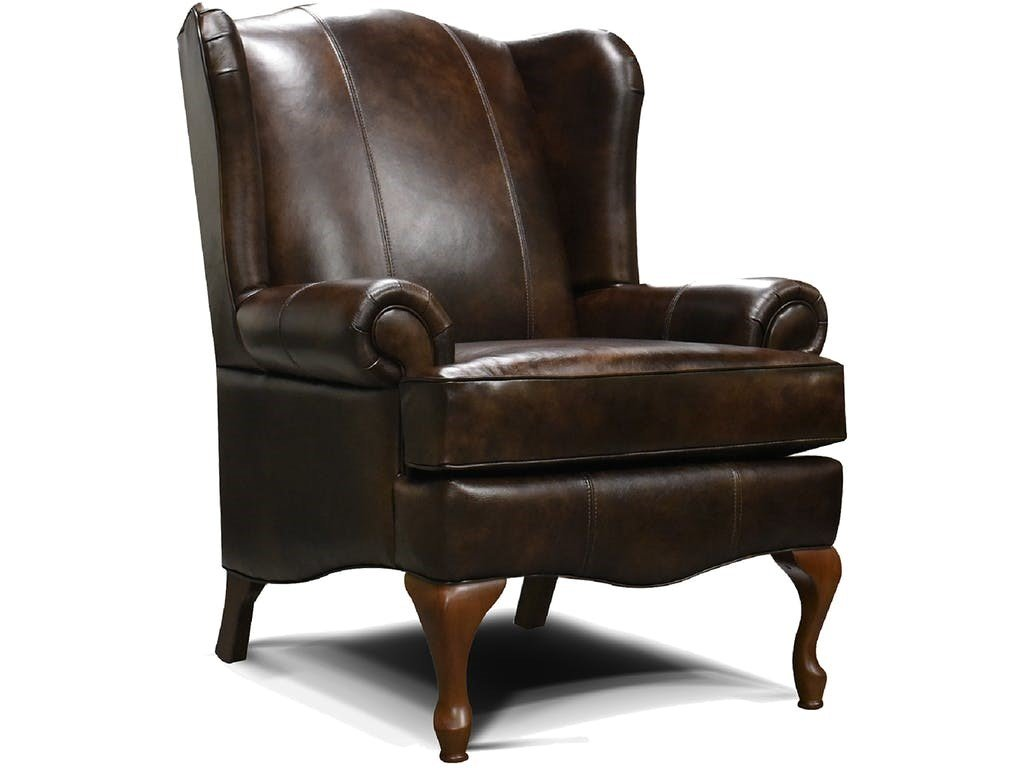 Leather Wingback Chair by England Furniture