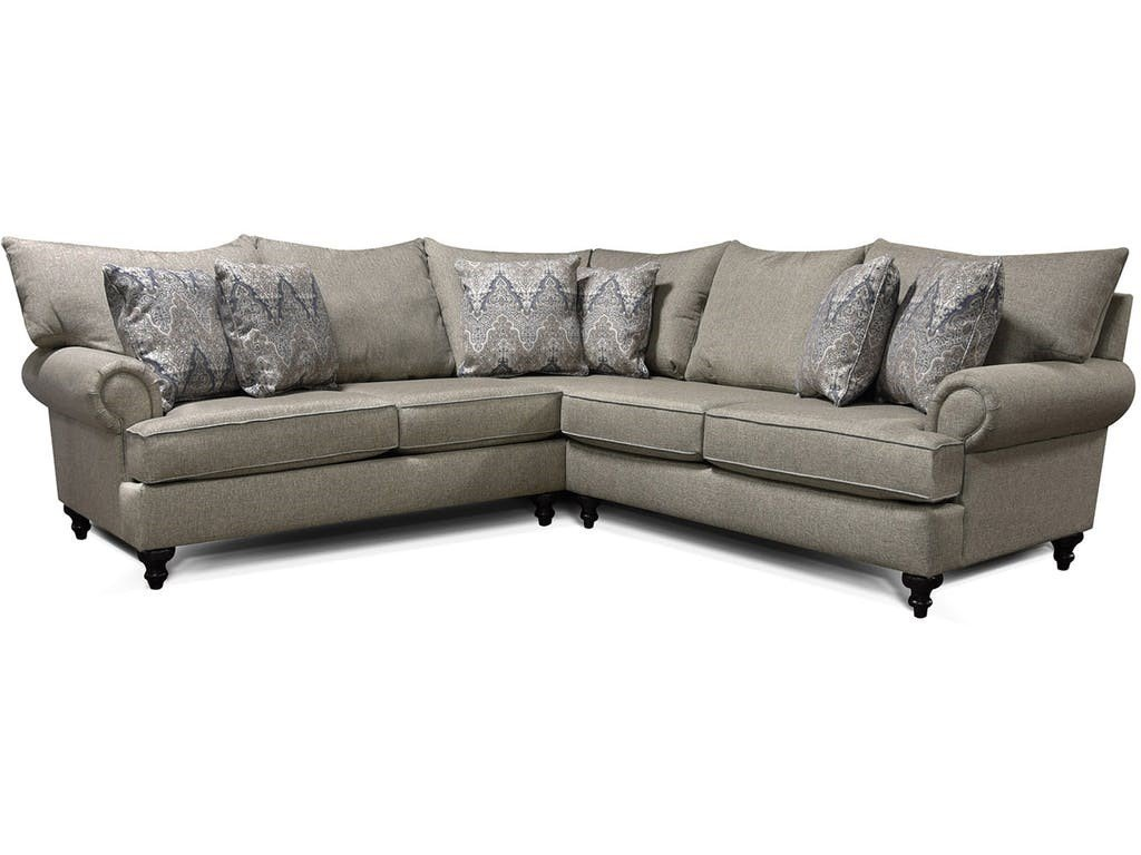 Gray Sectional with Character by England Furniture