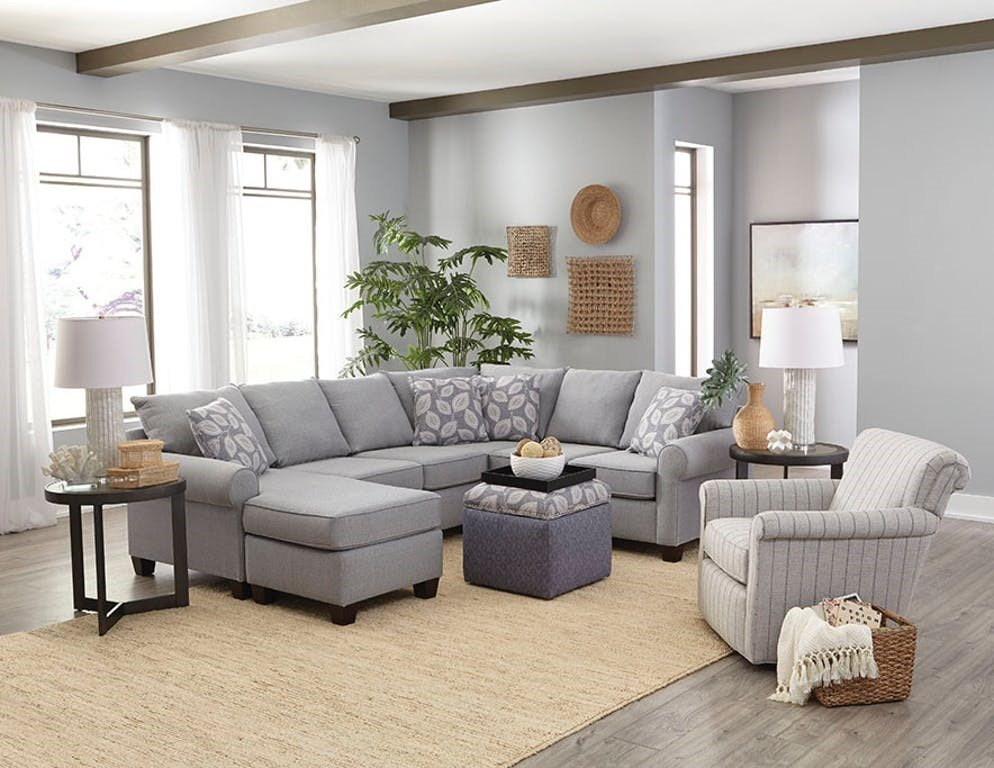 Clementine sectional living room scene